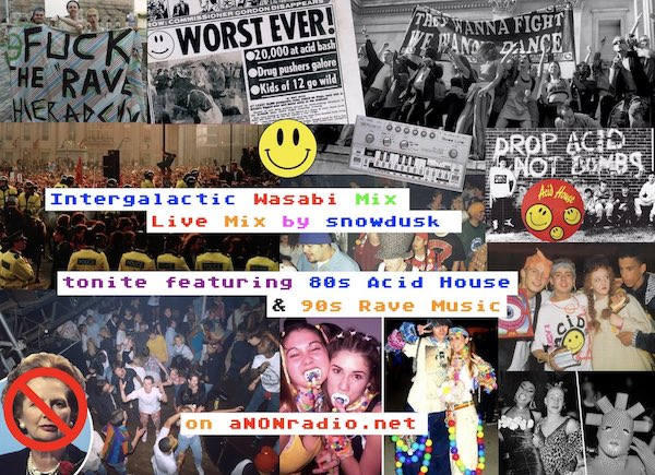80s Acid House & 90s Rave Collage